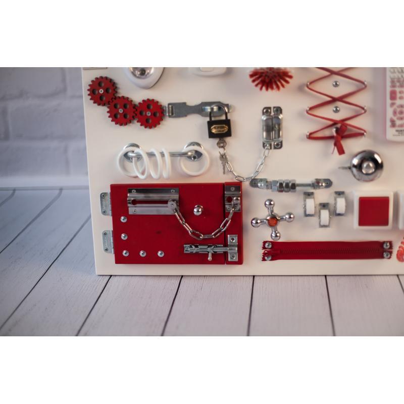 Бизиборд 2bee Бело-красный 60х40 фото