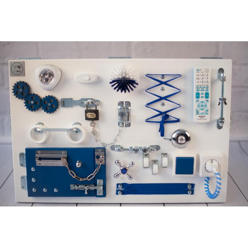 Бизиборд 2bee Бело-синий 60х40 фото