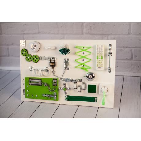 Бизиборд 2bee Бело-зеленый 60х40