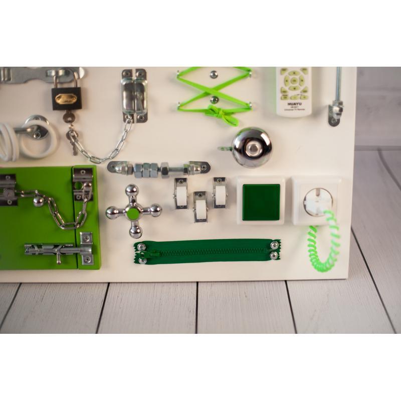 Бизиборд 2bee Бело-зеленый 60х40 фото