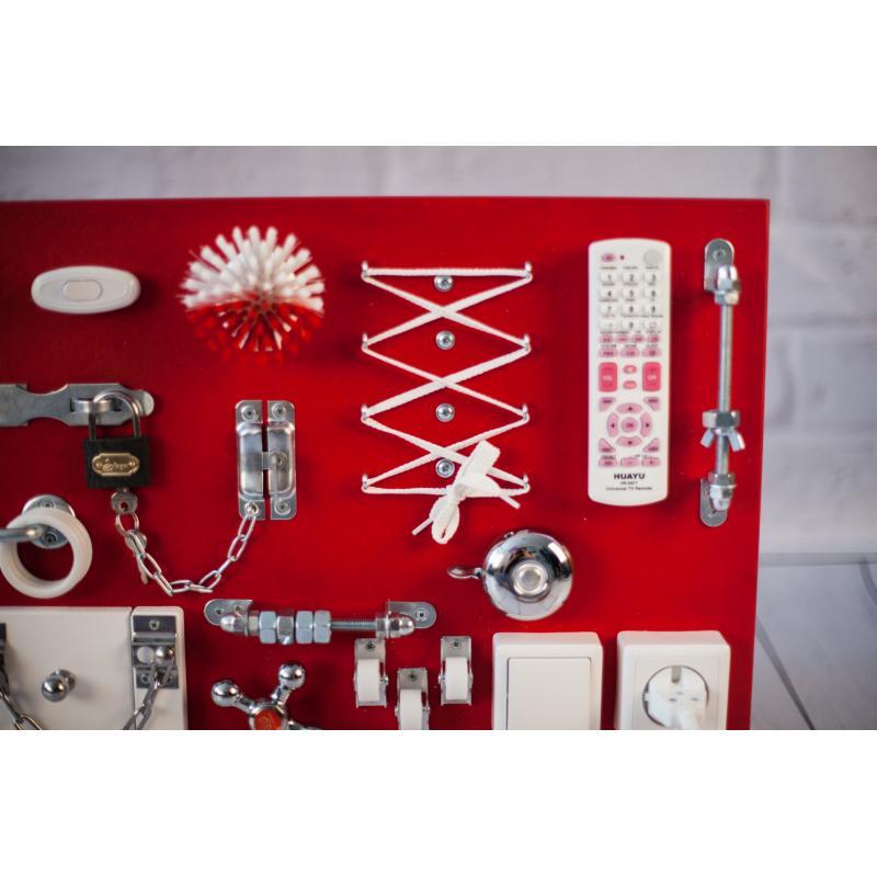 Бизиборд 2bee Красно-белый 60х40 фото