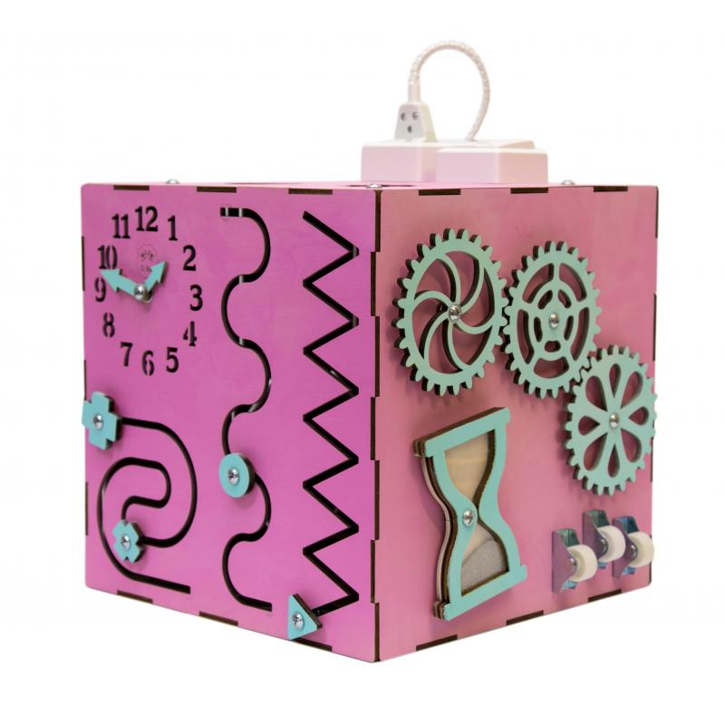 Бизи-Куб 2bee со светом розовый фото