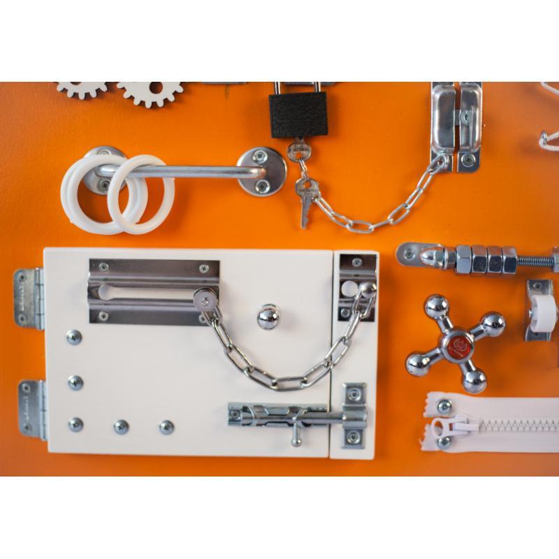 Бизиборд 2bee Оранжево-белый 60х40 фото