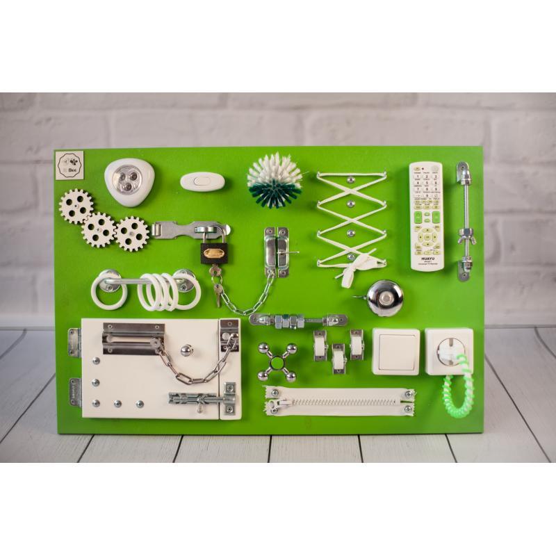 Бизиборд 2bee Зелено-белый 60х40 фото