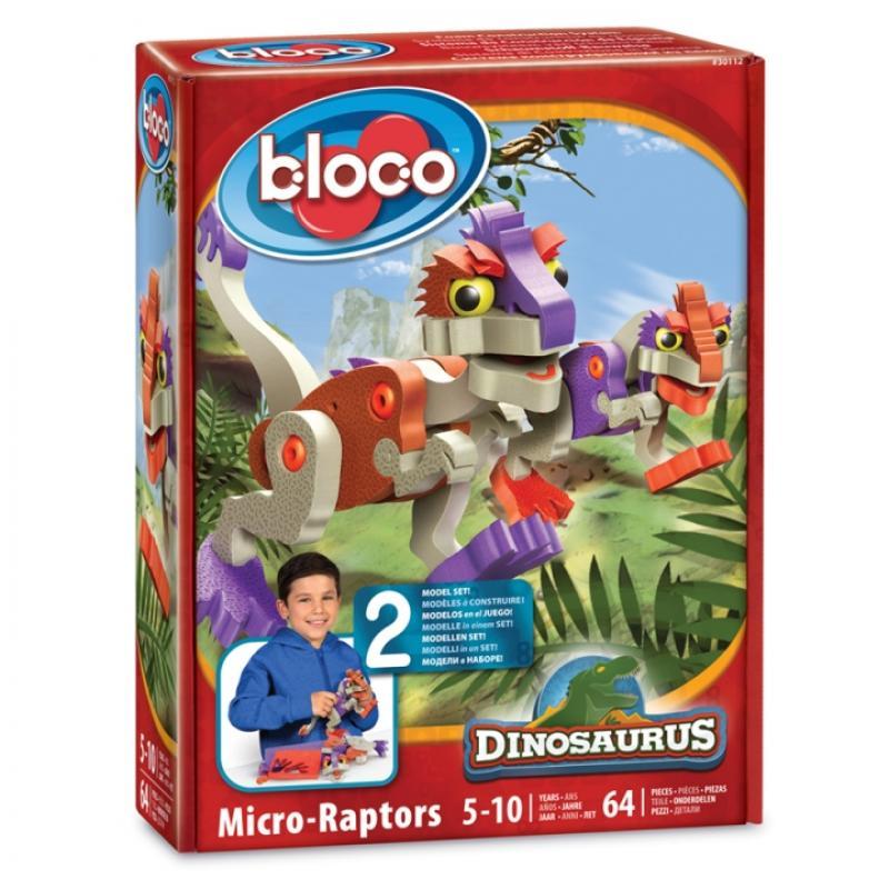 Мягкий конструктор BLOCO Динозавр Микрораптор фото