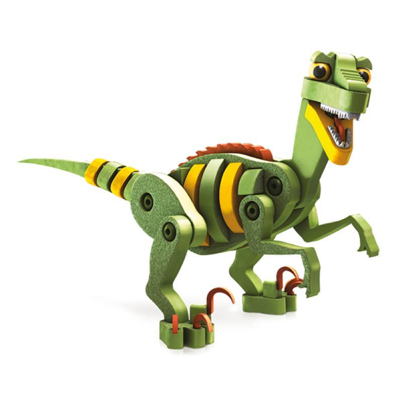 Мягкий конструктор BLOCO Динозавры: Велоцераптор и Птерозавр фото