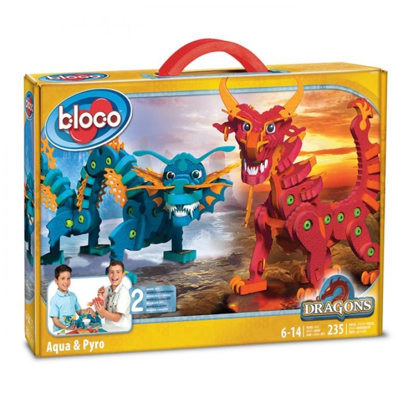 Мягкий конструктор BLOCO - Драконы Воды и Огня фото