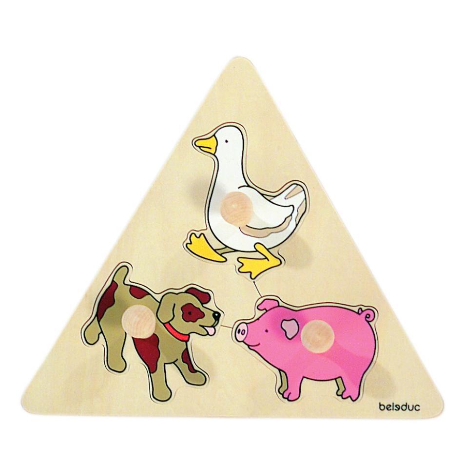 Развивающий пазл для детей Beleduc - Животные 10123