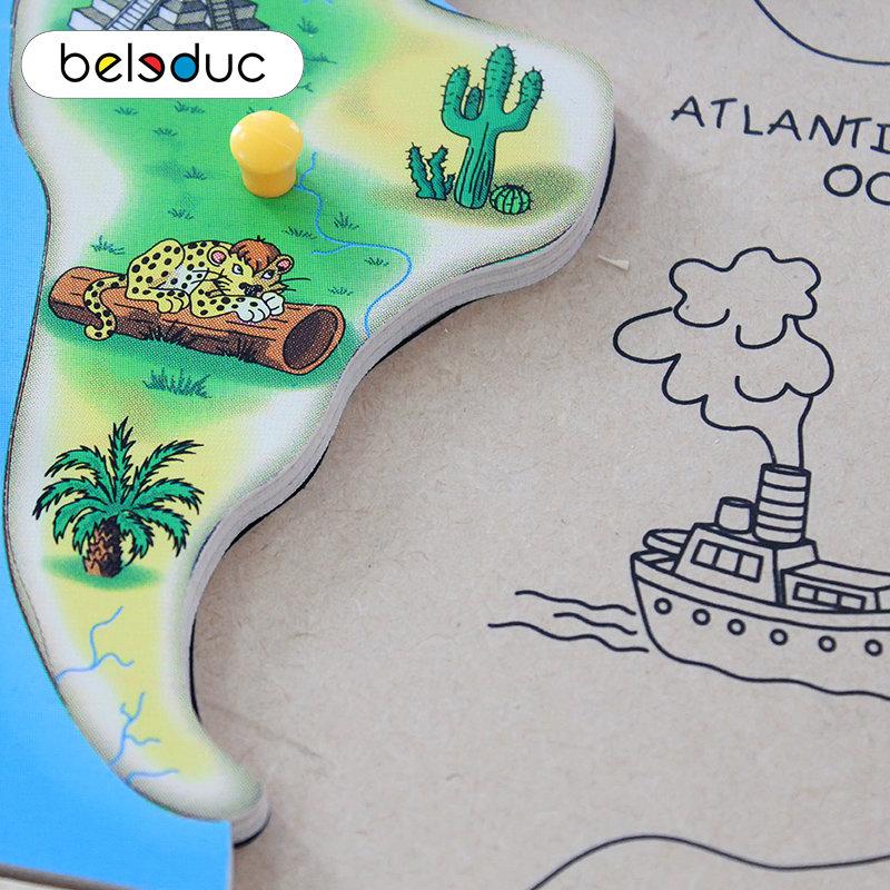 Развивающий пазл для детей Beleduc - Один большой мир фото