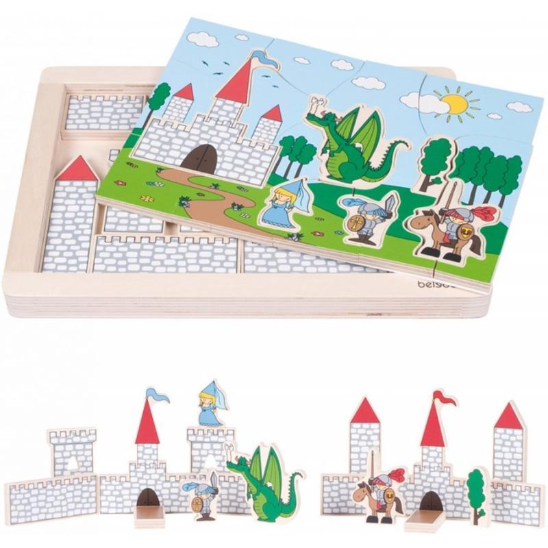 Развивающий пазл для детей Beleduc - Замок фото