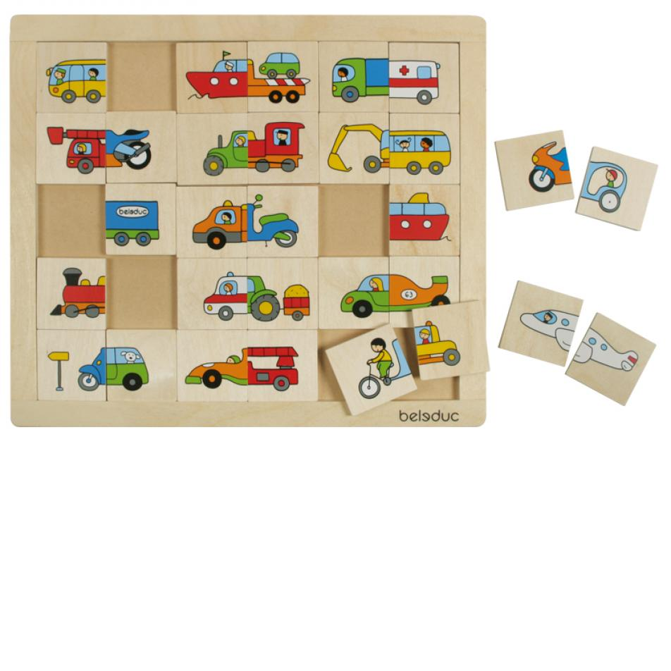 Развивающий пазл для детей Beleduc - Транспорт