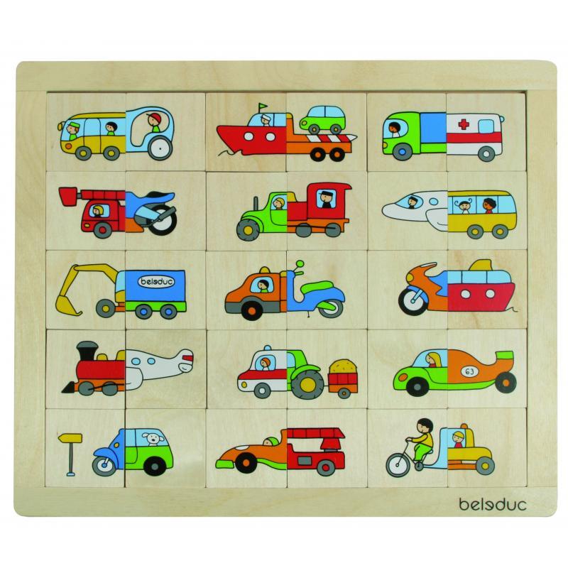 Развивающий пазл для детей Beleduc - Транспорт фото