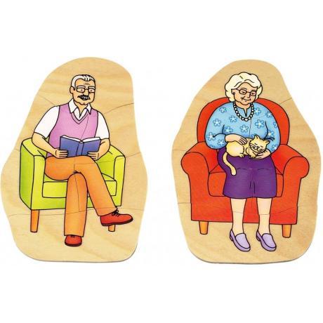 Развивающий пазл для детей Beleduc - Дедушка и бабушка