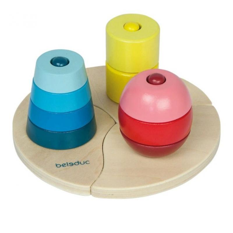 Развивающая игрушка Beleduc - Три пирамидки фото