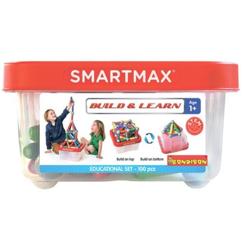 Магнитный конструктор Bondibon SmartMax - Basic XXL 70 фото