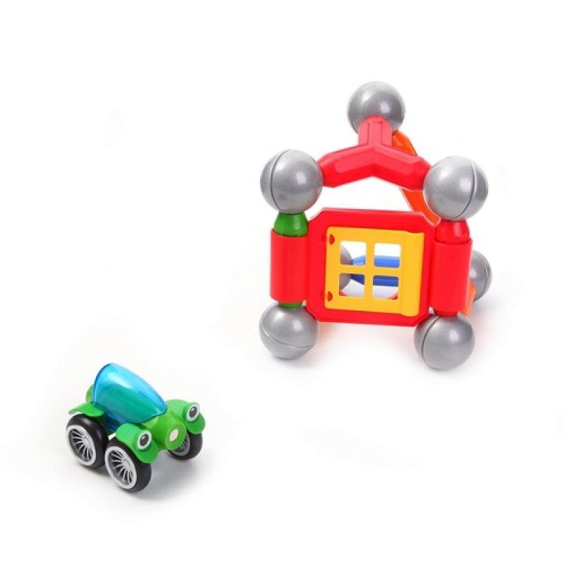 Магнитный конструктор Bondibon SmartMax - Дом с автомобилем фото