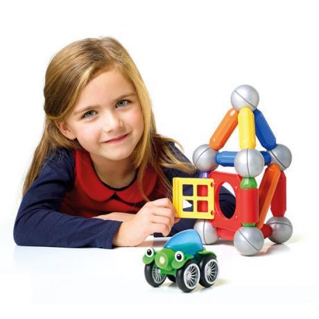 Магнитный конструктор Bondibon SmartMax - Дом с автомобилем