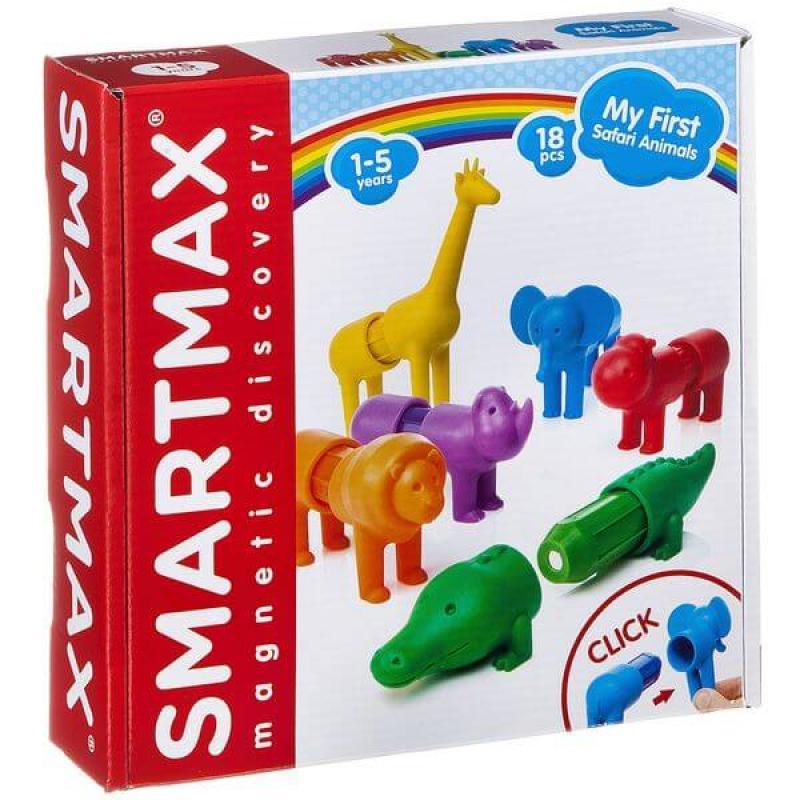 Магнитный конструктор Bondibon SmartMax - Мой первый Сафари-зоопарк фото