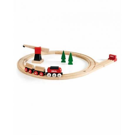 Железная дорога Brio для малышей, с подъемным краном