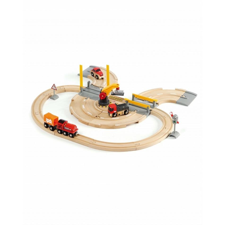Набор для железной дороги Brio Ж/д переезд