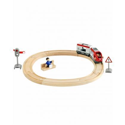 Железная дорога Brio со светофором, экспресс-поездом