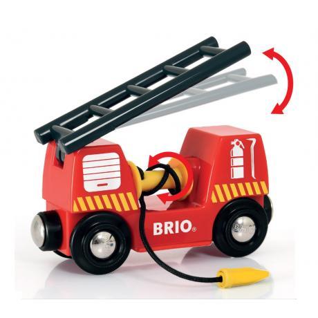Железная дорога Brio Пожарная команда спасателей, свет, звук