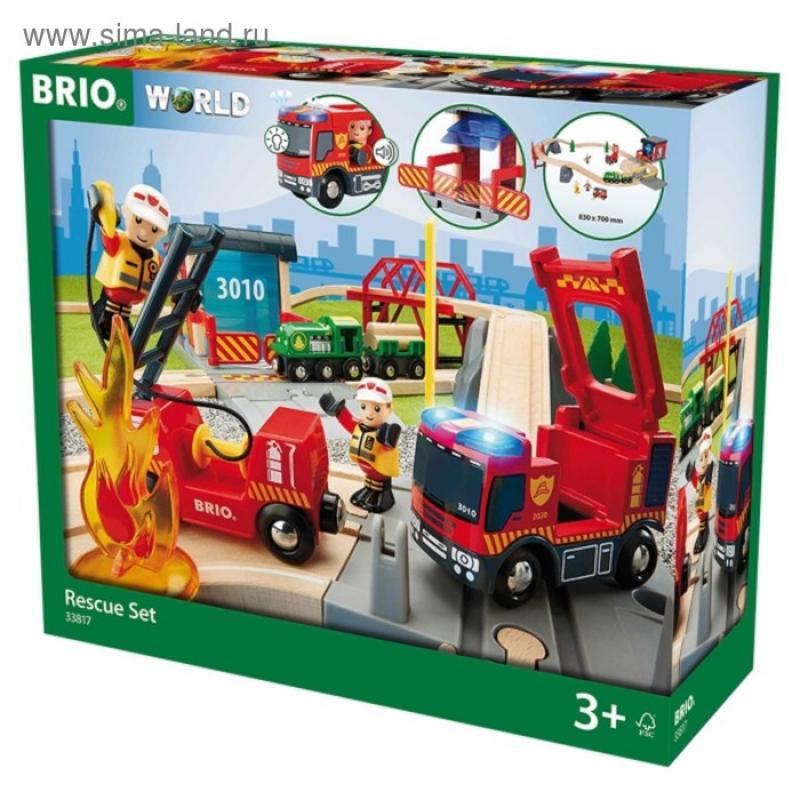 Железная дорога Brio Пожарная команда спасателей, свет, звук фото