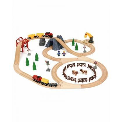 Brio Железная дорога Сельская местность и грузовой поезд