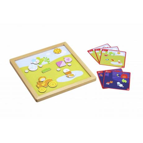 """Развивающая магнитная игра с карточками-заданиями """"День и ночь"""""""