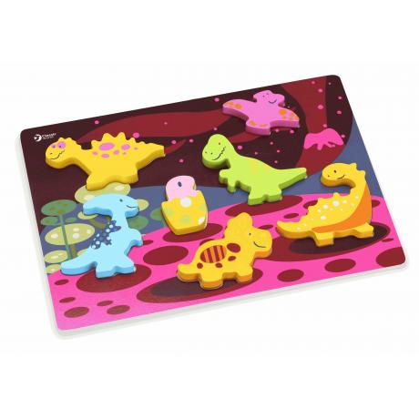 """Развивающий деревянный пазл 3D """"Мир динозавров"""""""