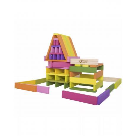 Деревянный конструктор Classic World Цветные планки