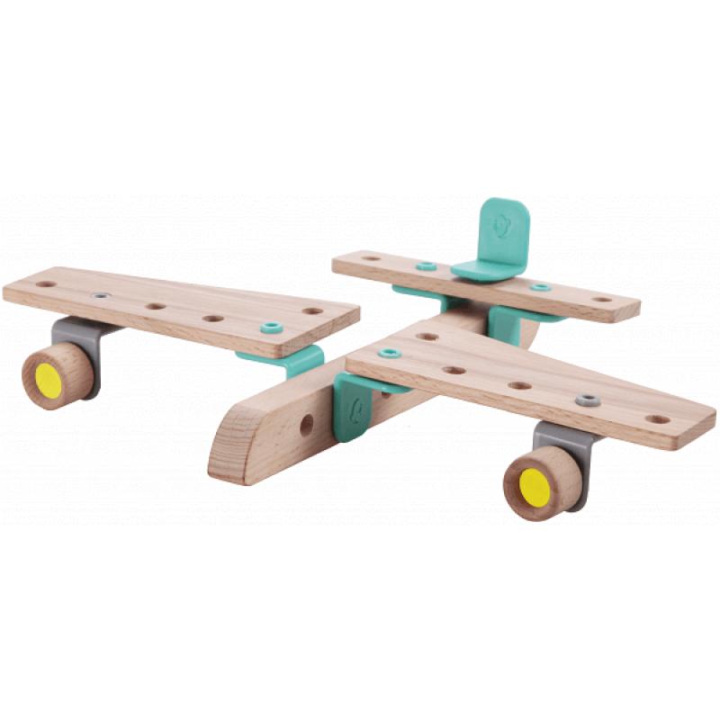 Деревянный конструктор Classic World Самолет фото