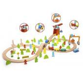 Деревянный конструктор Classic World железная дорога