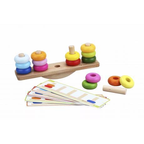 Развивающая деревянная игра Classic World Балансирующая пирамидка