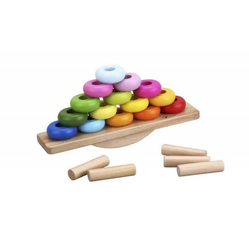 Развивающая деревянная игра Classic World Балансирующая пирамидка фото