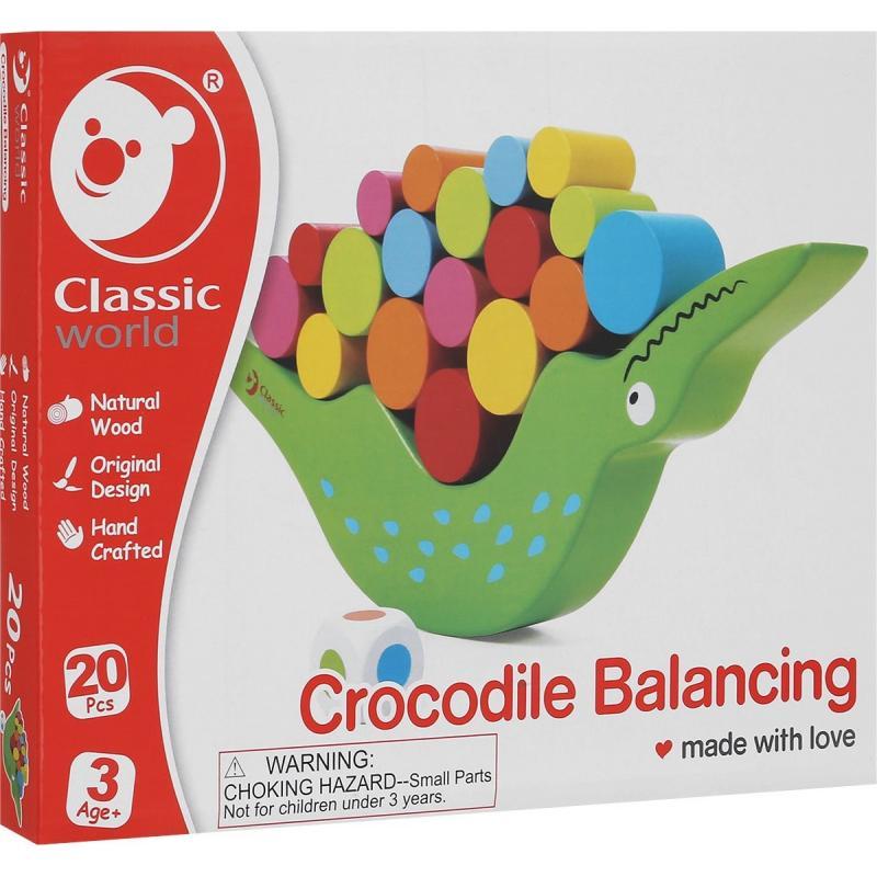 Развивающая игра Classic World Балансирующий Крокодил фото