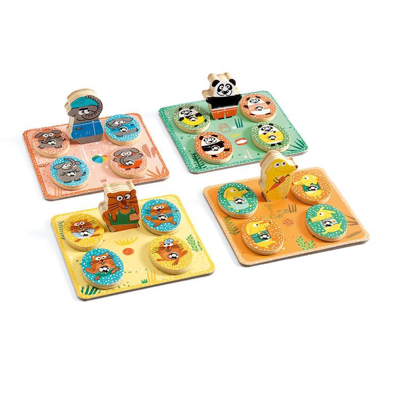 Развивающая игра Djeco - Людопарк 4 в 1 фото
