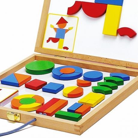 Детская развивающая магнитная игра - Геоформ