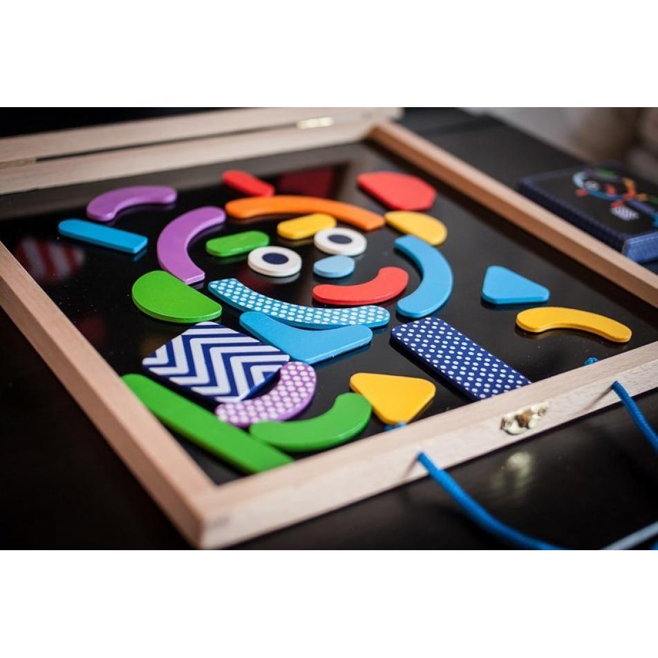 Детская развивающая магнитная игра - Гео человечки