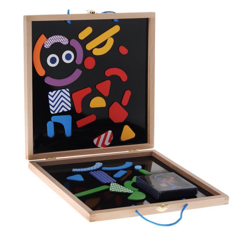 Детская развивающая магнитная игра - Гео человечки фото