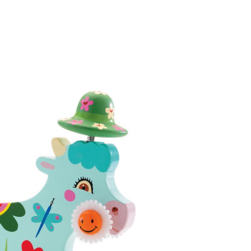 Каталка на веревке Djeco - Корова фото
