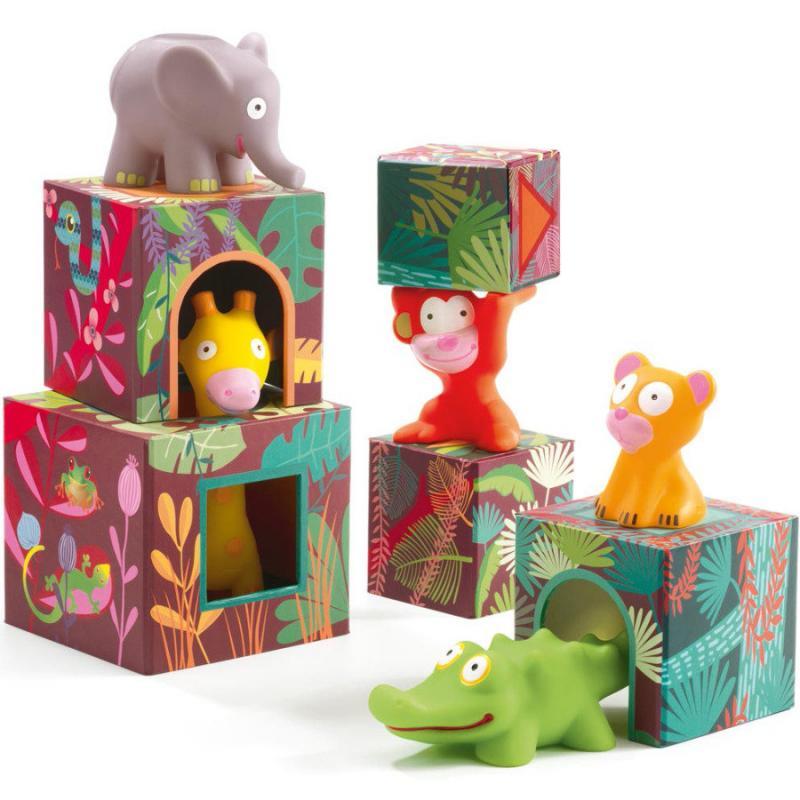 Кубики-пирамидка Большие Джунгли фото