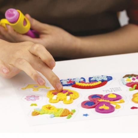 Пластилин для рисования Angel Cream Цвета, 6 цветов