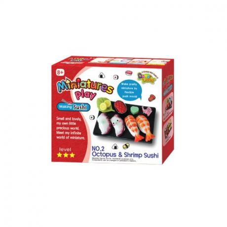 "Набор для лепки Miniatures Play Суши ""Лосось и каракатица"" (Salmon & Cuttlefish Sushi)"