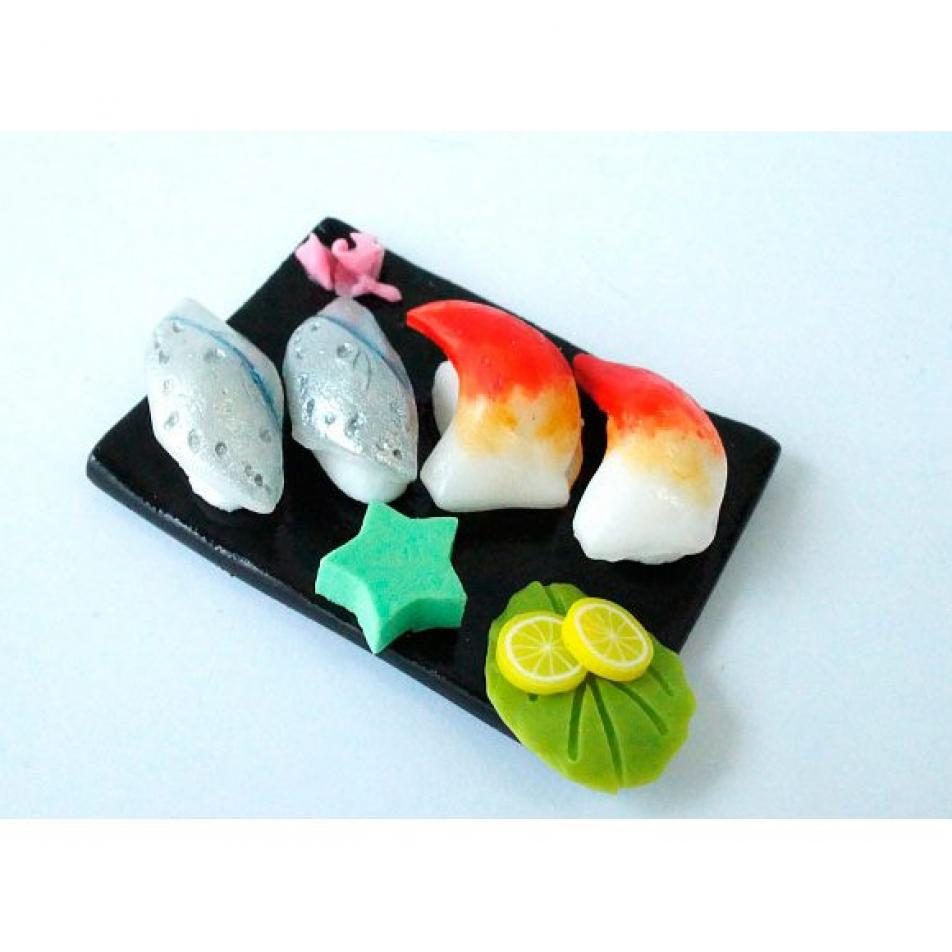 "Набор для лепки Miniatures Play Суши ""Моллюск, скумбрия, щука"" (Clam $ Mackerel Pike Sushi)"