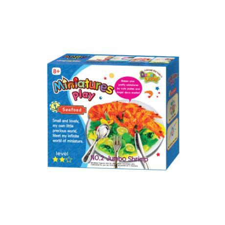 Набор для лепки Miniatures Play Морской Ресторан Гигантская креветка (Jumbo Shrimp)