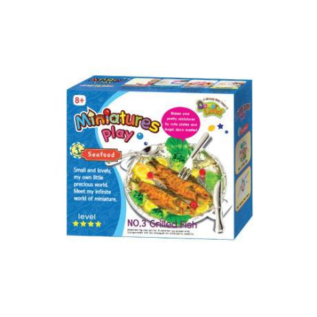 Набор для лепки Miniatures Play Морской Ресторан Жареная рыба (Grillde Fish)