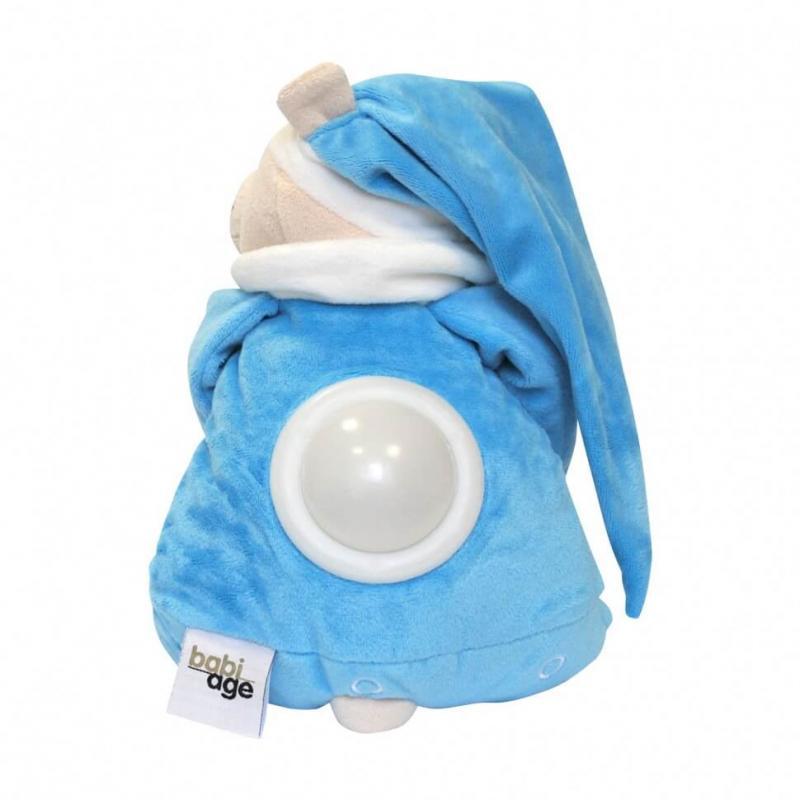 Умная игрушка Doodoo Babiage Мишка голубой спящий с ночником фото