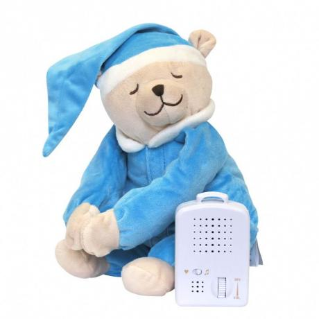 Умная игрушка Doodoo Babiage Мишка голубой спящий с ночником