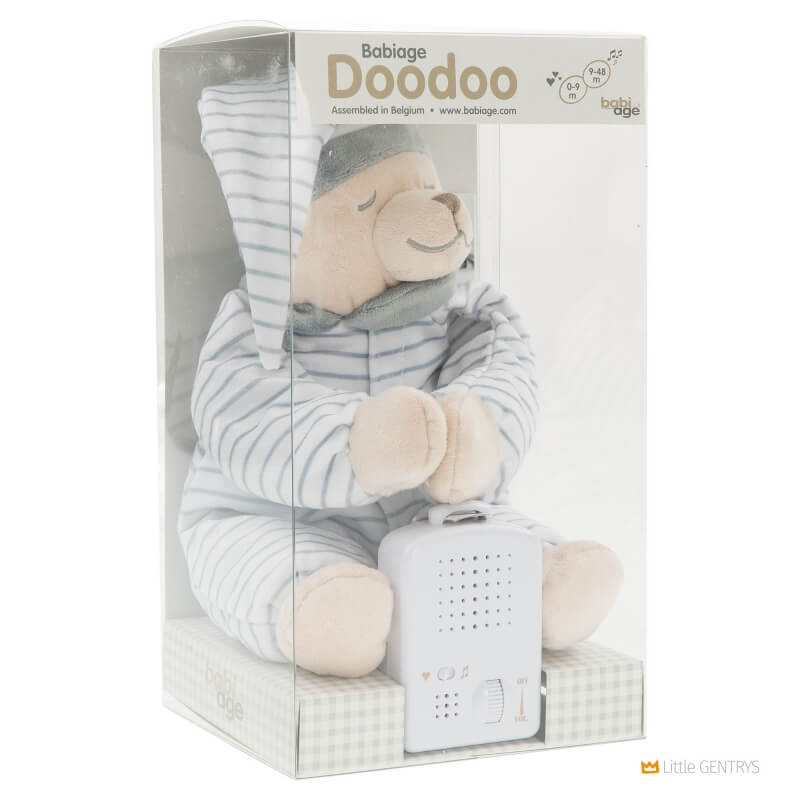 Умная игрушка Doodoo Babiage Мишка в полоску спящий фото